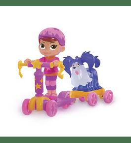 Figuras e Trotinete - Poppy e Wolfie