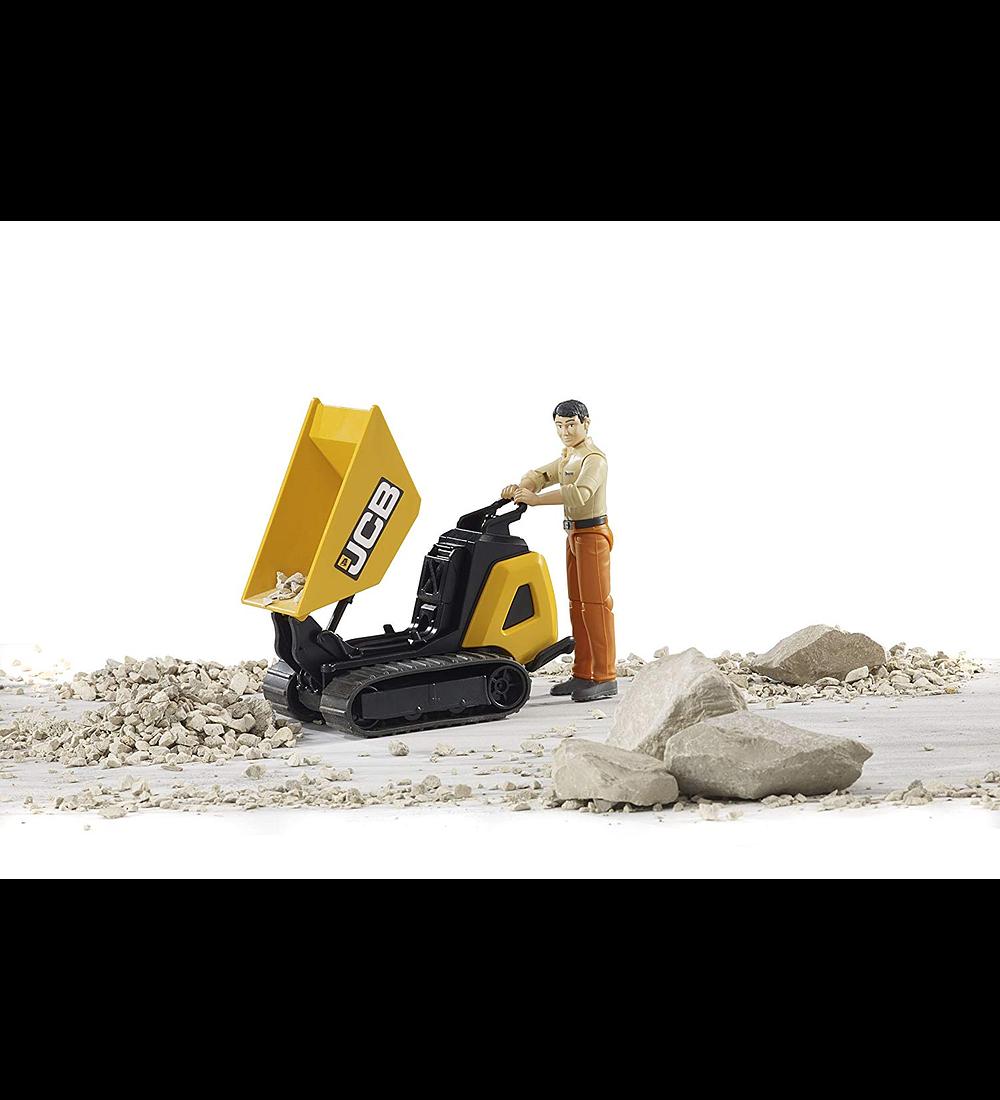 Mini DumpsterJCB HTD-5 com Trabalhador