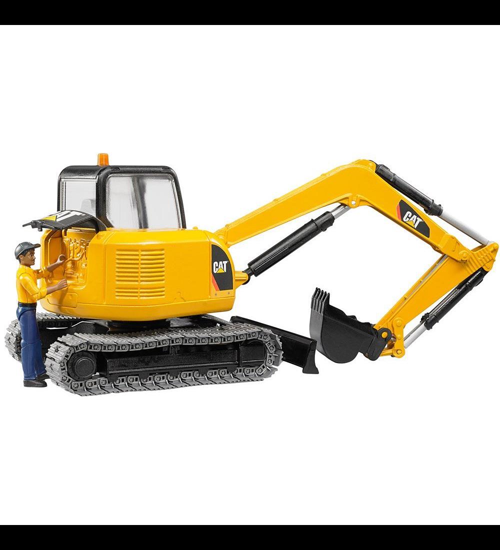 Mini Escavadora com Figura CAT