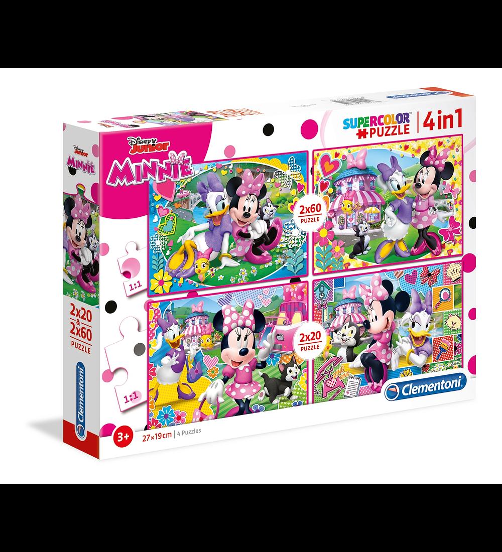 Puzzle 2x20 + 2x60 pçs - Minnie