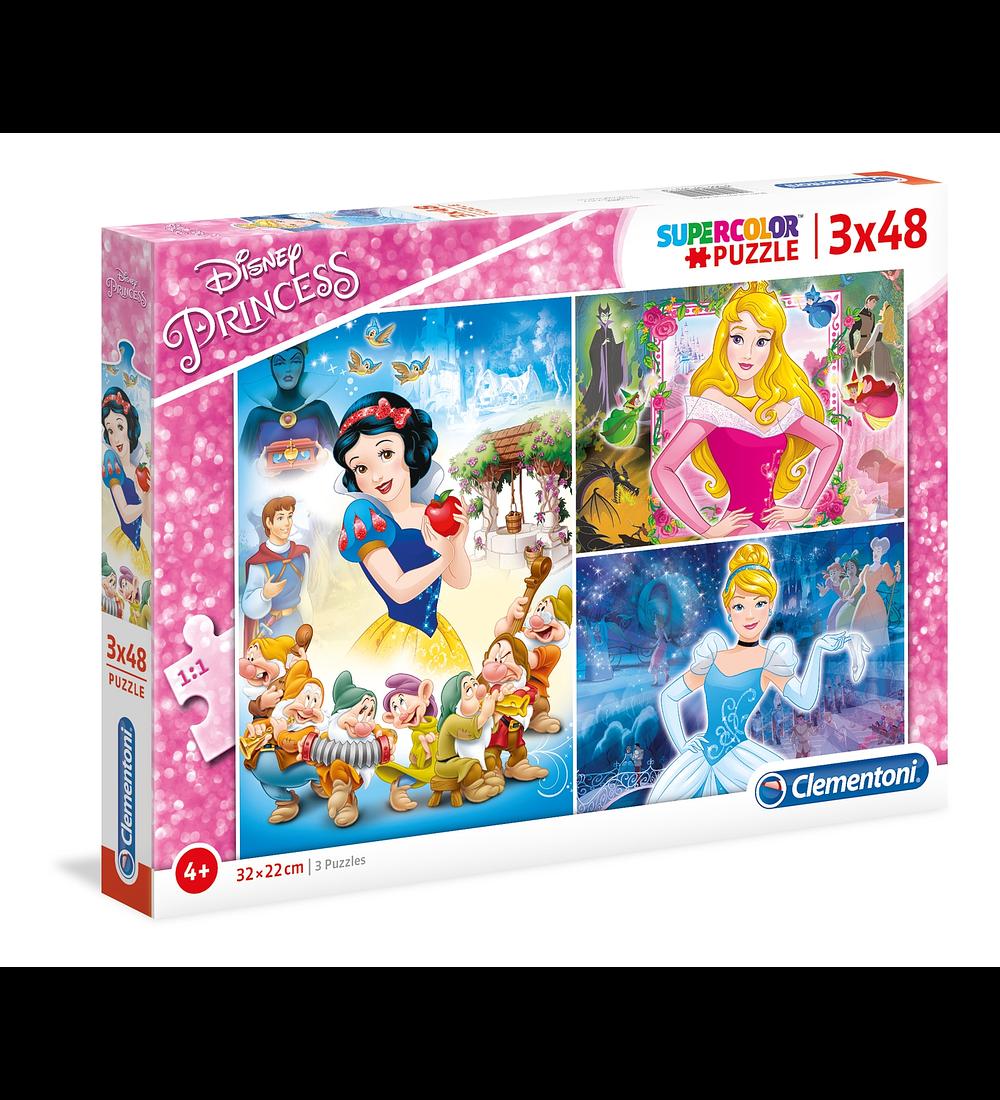 Puzzle 3 x 48 pçs - Princesas