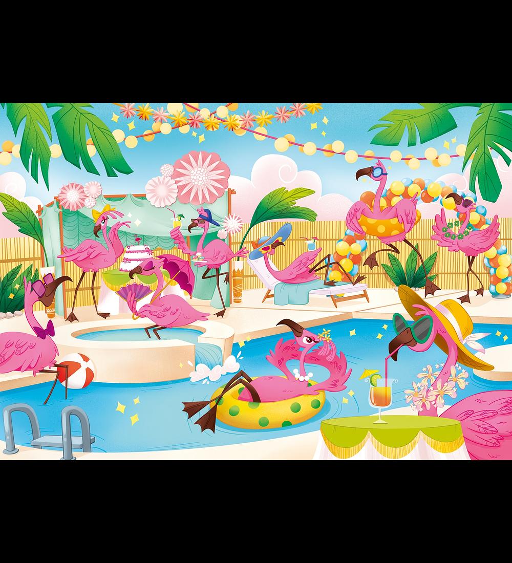 Puzzle Brilliant 104 pçs - Flamingos