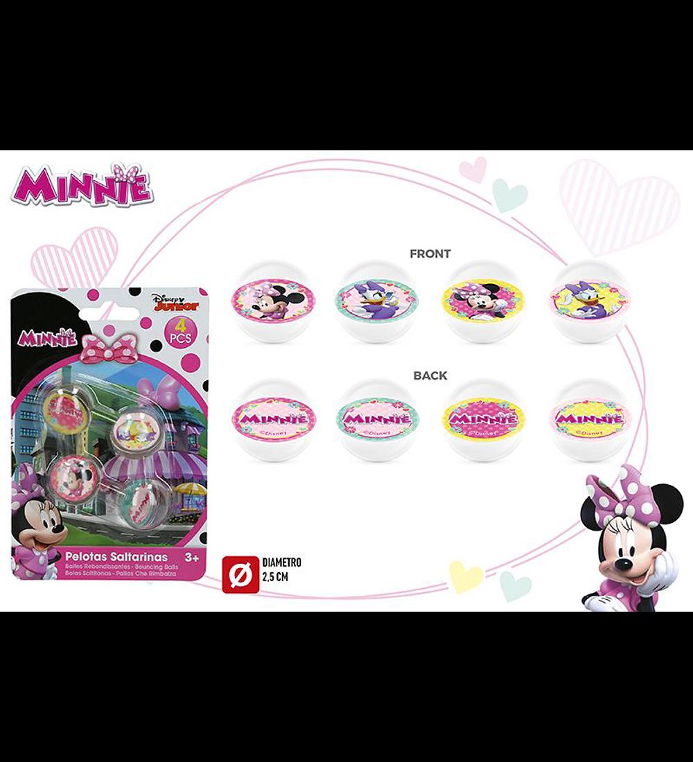 Conjunto 4 Bolas Saltitonas - Minnie
