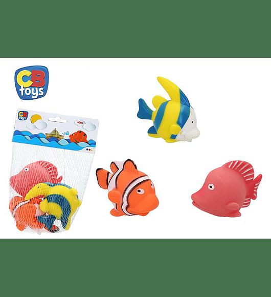 Conjunto de 3 Peixes