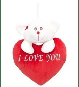 Coração I Love You com Urso 21cm