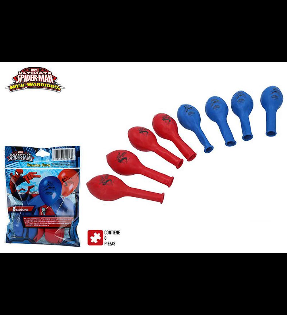 Saco 8 Balões - Spiderman