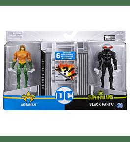 Pack 2 Figuras - Aquaman vs Black Manta