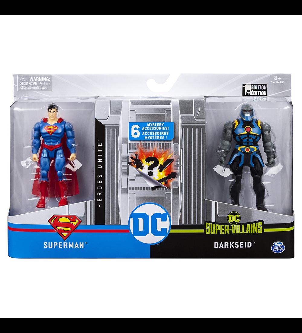 Pack 2 Figuras - Superman vs Darkseid