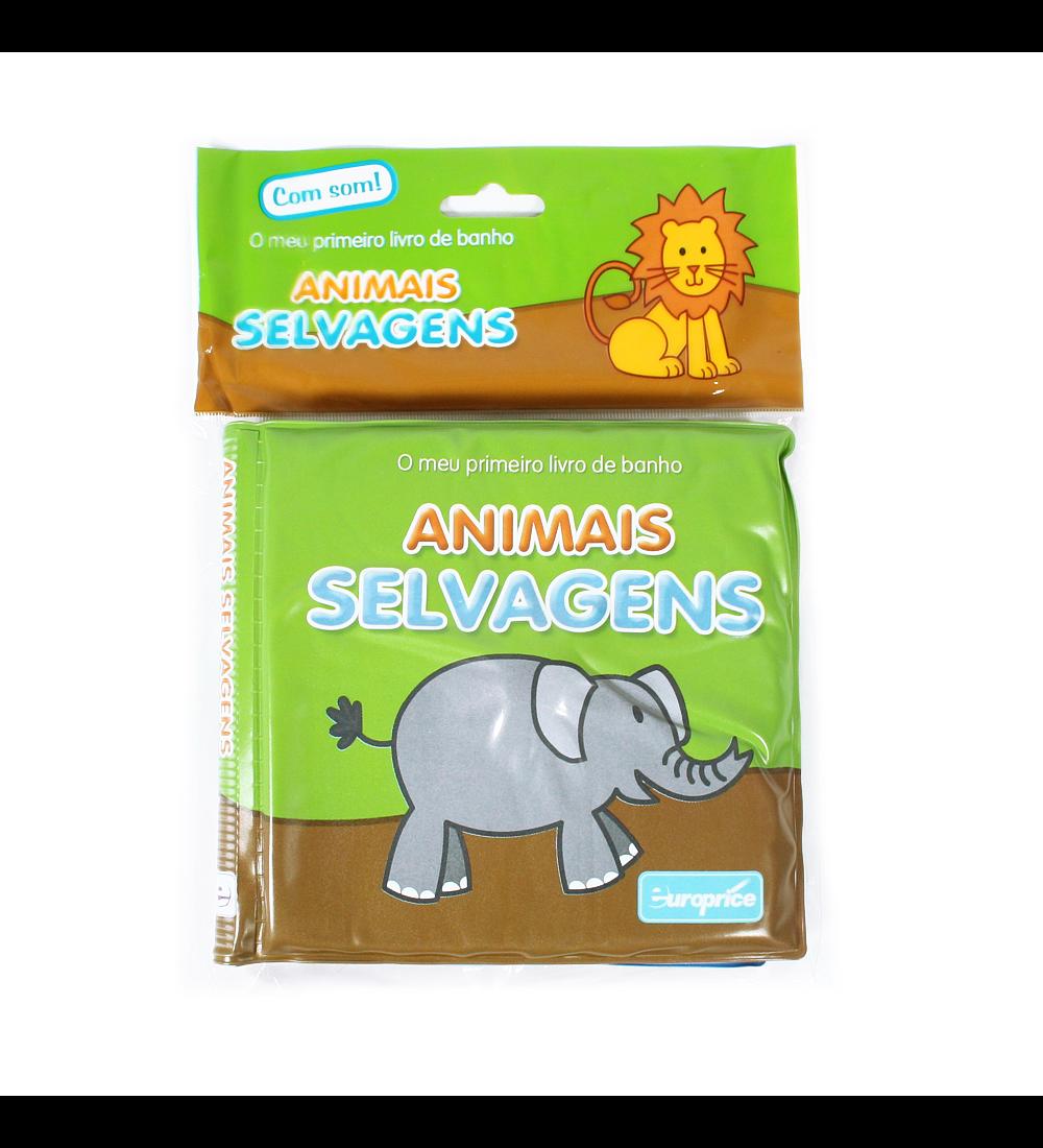 O meu primeiro livro de banho - Animais Selvagens