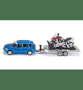 Siku - Carro com Reboque e Mota