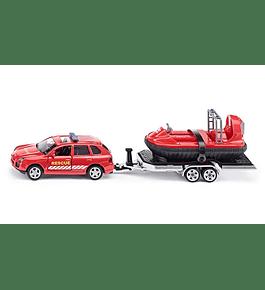 Siku - Carro de Patrulha com Reboque e Hovercraft