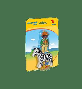 Homem com Zebra