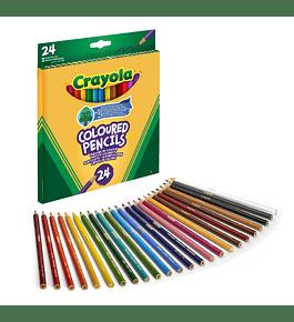 24 lápis de Cor