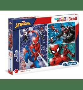 Puzzle 3x48 pçs - Spider-Man