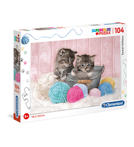 Puzzle 104 pçs - Sweet Kittens