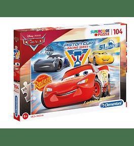 Puzzle 104 pçs - Cars