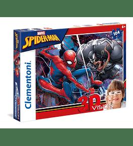 Puzzle 104 pçs - Spider-Man 3D Vision