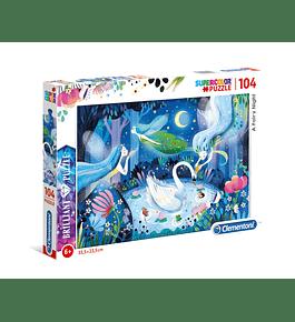 Puzzle Brilliant 104 pçs - A Fairy Night