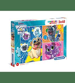Puzzle 3x48 pçs - Bingo & Rolly