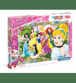 Puzzle Jewels 104 pçs - Disney Princess