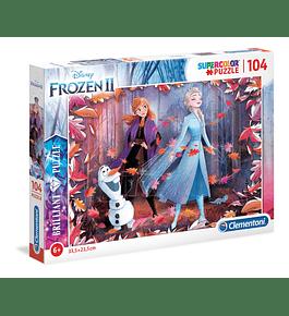 Puzzle Brilliant 104 pçs - Frozen II
