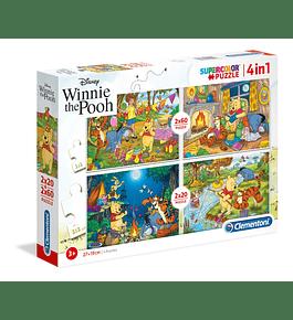 Puzzle 2x20 + 2x60 pçs - Winnie the Pooh