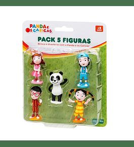 Panda e Caricas - Pack 5 Figuras