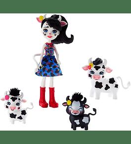 Boneca com Animais - Cambrie Cow, Ricotta, Mac & Cheese