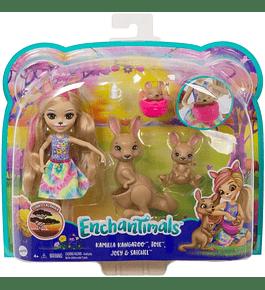 Boneca com Animais - Kamilla Kangaroo