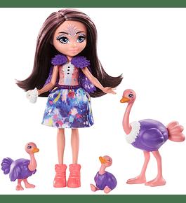 Boneca com Animais - Ofelia Ostrich