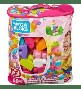 Mega Bloks - Bolsa Rosa 60 Peças