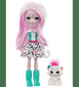 Boneca com Amigo - Sybill Snow Leopard & Flake