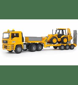 Camião MAN TGA Reboque com Retroescavadora JCB