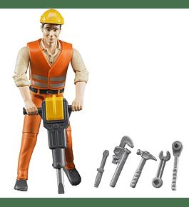 Operário de Construção com Acessórios