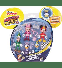 Pack 5 Figuras - Mickey, Minnie, Daisy, Donald e Pateta