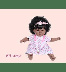 Boneca Cabelo Risitas 65 cm - Negra