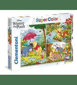 Puzzle 3x48 pçs - Winnie The Pooh
