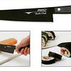 BF HB – 70, Chef's Knife (Black nonstick coating), 180mm blade long  Black Fluorine Coated Series