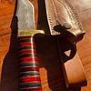 Cuchillo de colección outdoor origen Siria (hueso y madera)