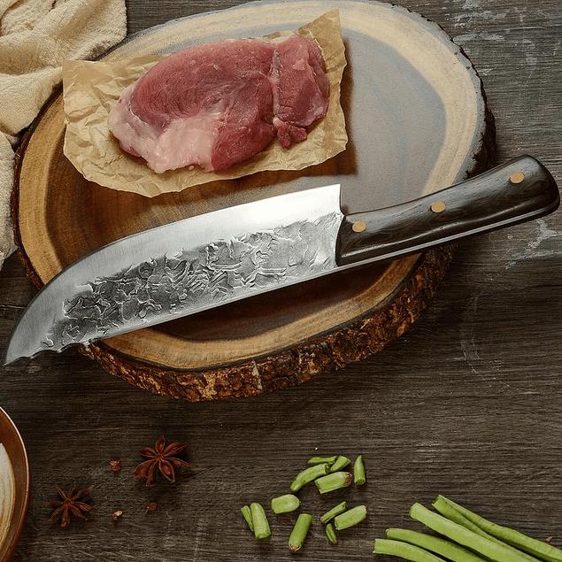 Cuchillo carnicero serbio acero al carbono