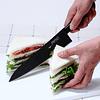 BF HB – 85, Chef's Knife 21,5 cms  (Black nonstick coating), 180mm blade long  Black Fluorine Coated Series