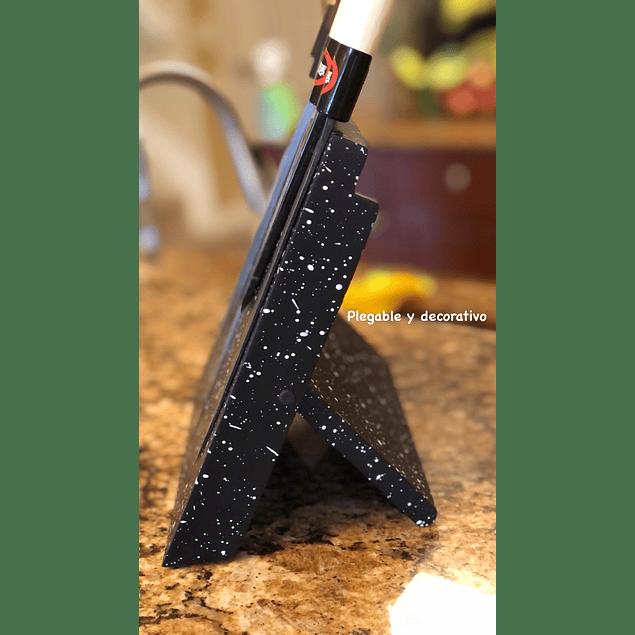 Piedra magnética para cuchillos plegable