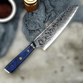 Kiritsuke 67 capas Damasco VG-10 /Honey blue