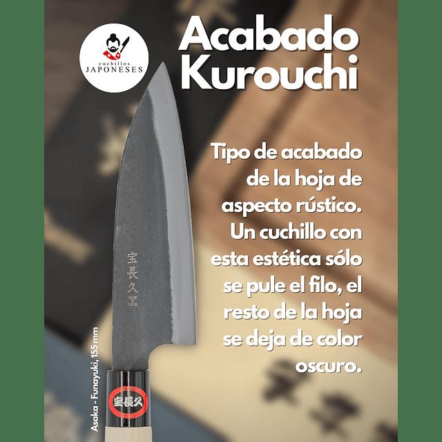 ASAKA  kurouchi FUNAYUKI 15,5 cms de hoja