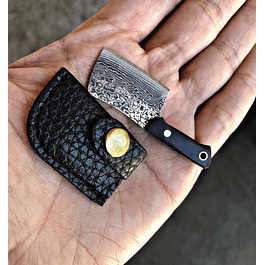 mini cleaver chino acero damasco