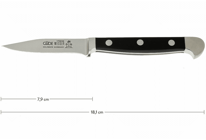 GÜDE, Alpha, cuchillo pelador, 80 mm,  1708/08