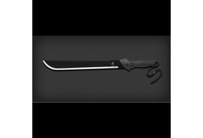 GERBER Machete Gator Machete - Outdoor de doble filo, serrado y liso, hoja de 44cm