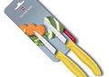 Victorinox, Swiss Classic ,set 2 cuchillo para verdura/Puntiagudo color AMARILLO