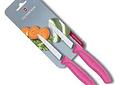 Victorinox SwissClassic, set 2 cuchillos para verdura / Punta centrada ROSADO