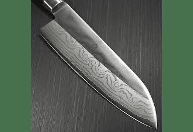 TOJIRO, DP series, Acero Damascus 37 capas, SANTOKU, 170 mm (F-507/659)